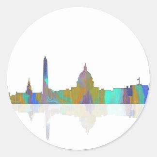 Washington, DC Skyline Round Sticker