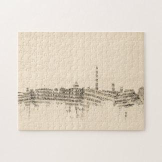 Washington DC Skyline Sheet Music Cityscape Jigsaw Puzzle