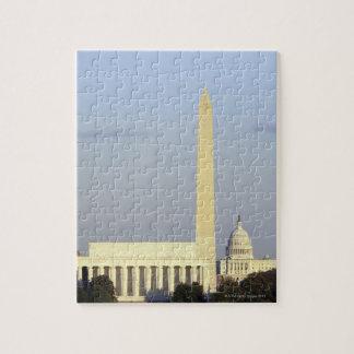 Washington DC Skyline with US Capitol Building Jigsaw Puzzle