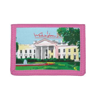 Washington DC - White House Digital Pink Trifold Wallet