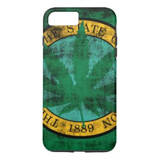 Washington Flag Pot Leaf Grunge iPhone 8 Plus/7 Plus Case