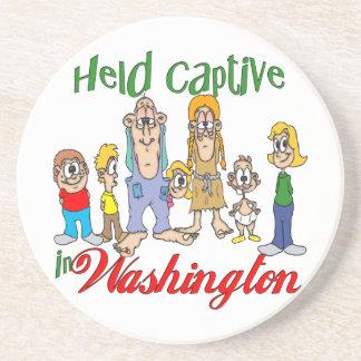 Washington Funny Trailer Park Sandstone Coaster