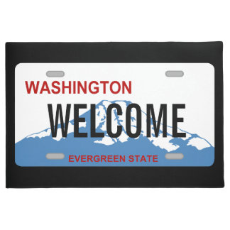 Washington license plate custom doormat