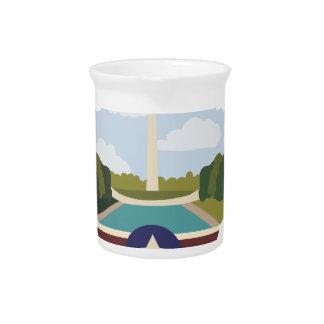 Washington Monument Drink Pitcher