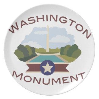 Washington Monument Plate