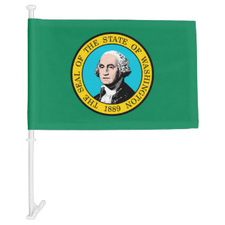 Washington State Flag Design Car Flag