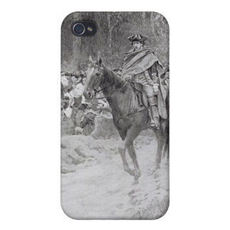 Washington's Retreat from Great Meadows iPhone 4 Cover