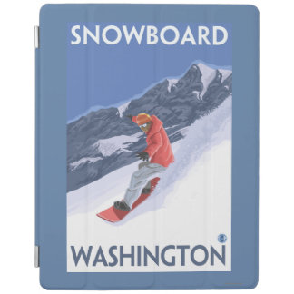 WashingtonSnowboarding Vintage Travel Poster iPad Cover