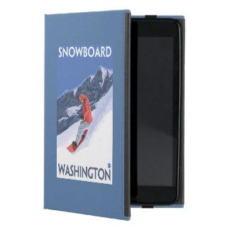 WashingtonSnowboarding Vintage Travel Poster iPad Mini Cover