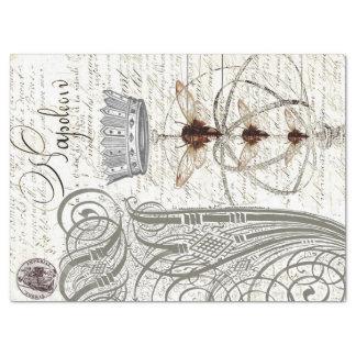 Wasp Ephemera Script Decoupage Tissue Tissue Paper
