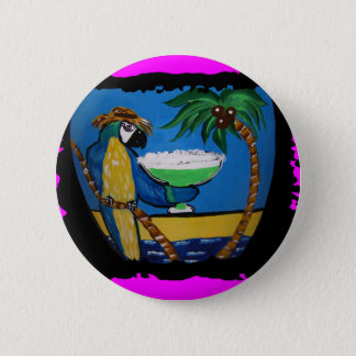 Wastin Away Parrots 6 Cm Round Badge