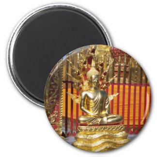 Wat Phrathat Doi Suthep Gold Buddha Fridge Magnet