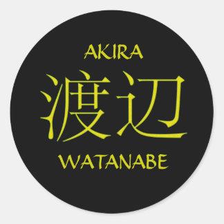 Watanabe Monogram Classic Round Sticker