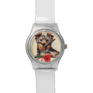 WATCH DOG WITH ROSE