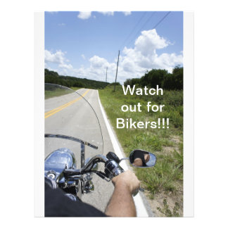 Watch out for Bikers 21.5 Cm X 28 Cm Flyer