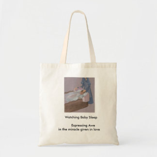 Watching Baby Sleep Tote Bag