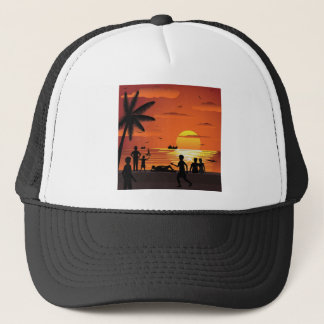 watching sunset trucker hat