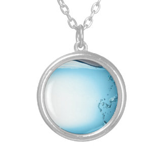 Water Background Round Pendant Necklace