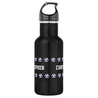 Water Bottle, Personalized, Soccer, Black 532 Ml Water Bottle