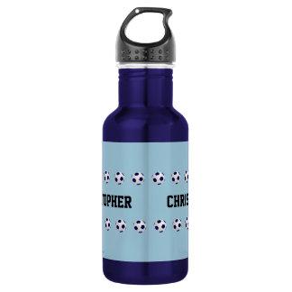 Water Bottle, Personalized, Soccer, Blue 532 Ml Water Bottle