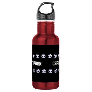 Water Bottle, Personalized, Soccer, Red 532 Ml Water Bottle