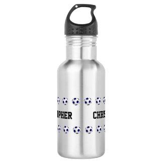 Water Bottle, Personalized, Soccer, Steel 532 Ml Water Bottle