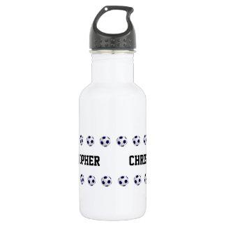 Water Bottle, Personalized, Soccer, White 532 Ml Water Bottle