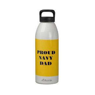 Water Bottle Proud Navy Dad