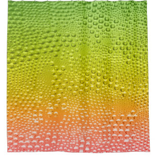 Water Bubble Colorful Gredient Shower Curtain