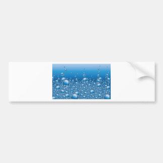 Water bubbles bumper stickers