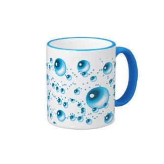 Water Bubbles Ringer Mug