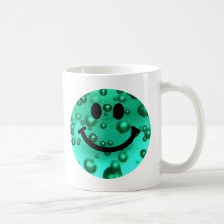 Water bubbles smiley basic white mug