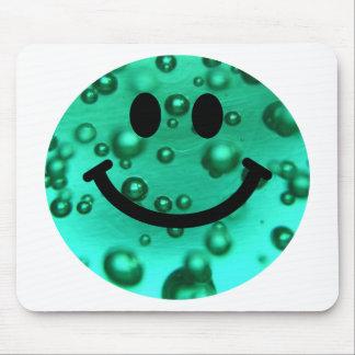 Water bubbles smiley mousepad