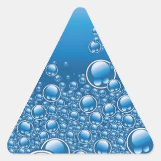 Water bubbles triangle sticker
