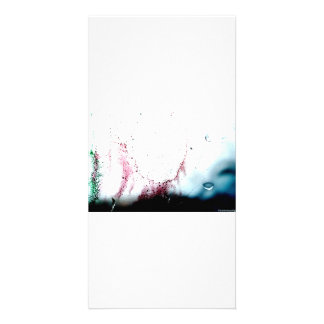Water Color design Customized Photo Card