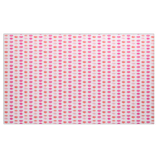 Water color pink lips vintage pattern fabric