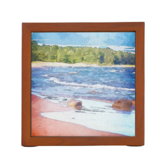 Water Colors And Sandy Shores Desk Organiser