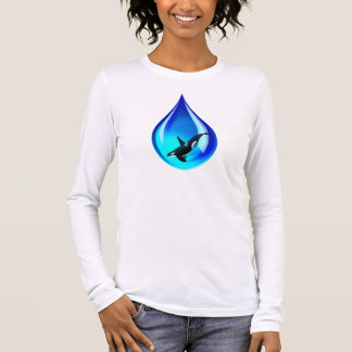 Water Drop and Orca Long Sleeve T-Shirt