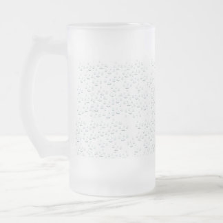 Water drops frosted glass mug