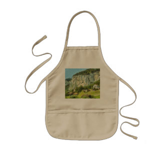 Water falling off a cliff kids apron