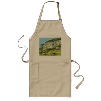 Water falling off a cliff long apron