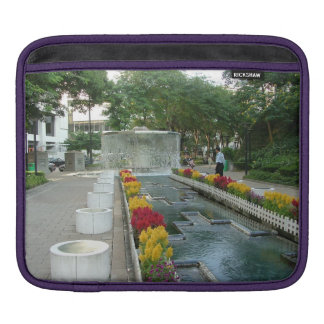 Water Fountain in Hong Kong Park (inside and out) iPad Sleeve