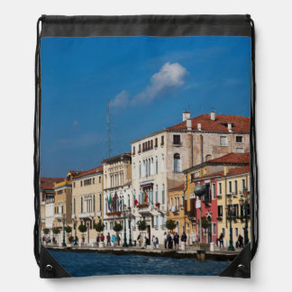 Water Front Along The Grand Canal Of Venice Backpacks
