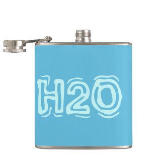 Water H2O flask