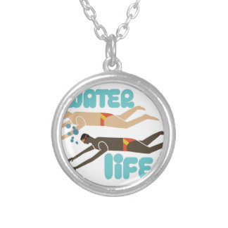 Water Is Life Round Pendant Necklace