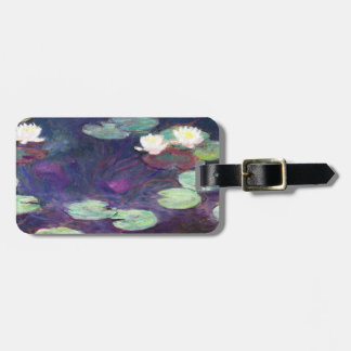 Water Lilies, Pink, 1897-99 Claude Monet cool, old Bag Tag