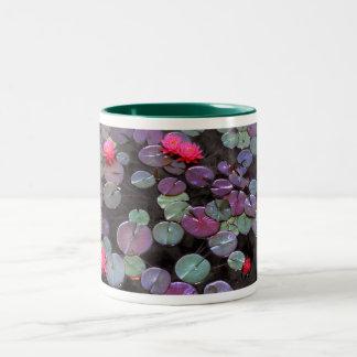 Water Lillies, Water Lilies Two-Tone Coffee Mug