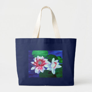 Water Lilly Dance Large Tote Bag