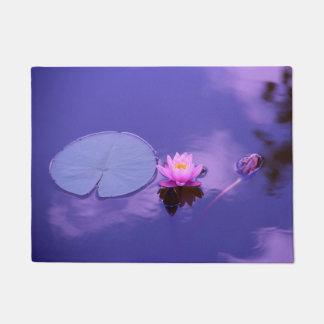 Water Lily at Dawn Door Mat