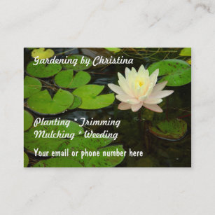 Lotus flower business cards zazzle nz water lily lotus flower pond business cards mightylinksfo